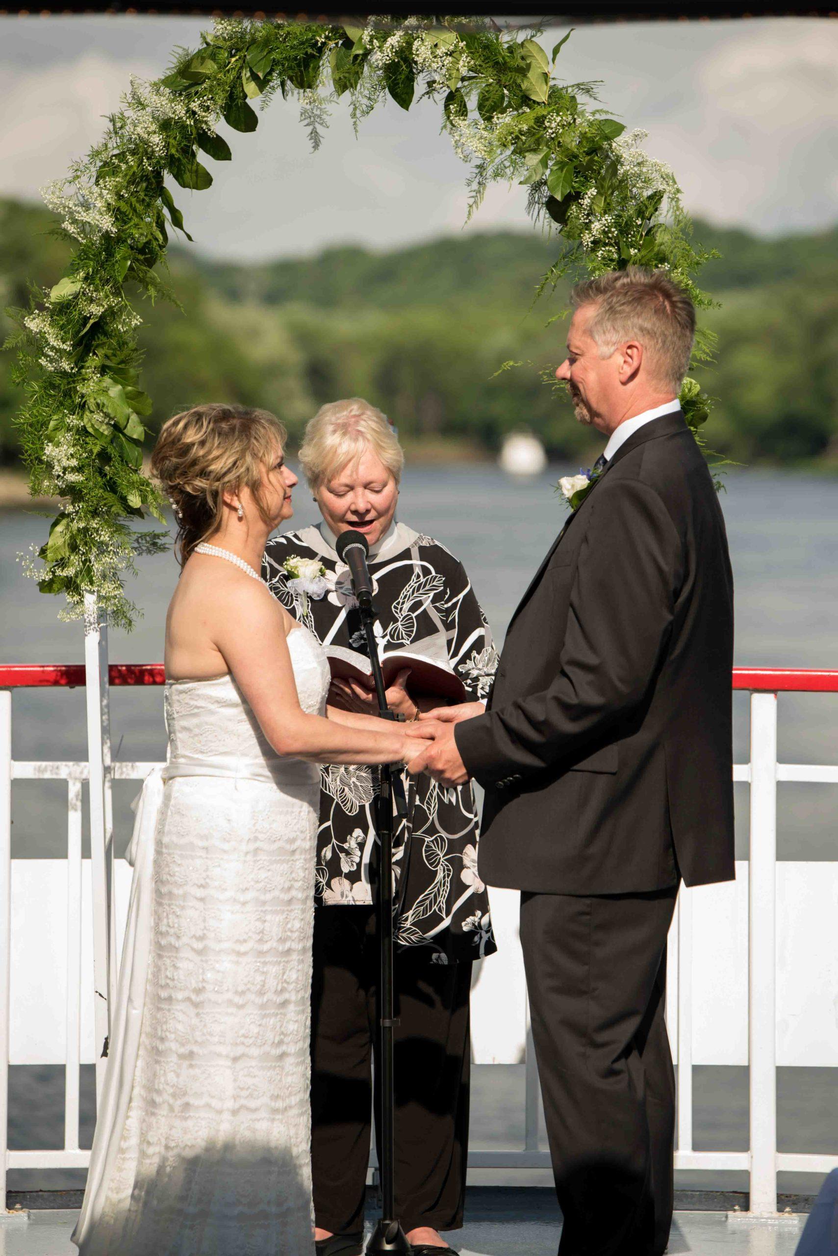 Wedding on the river Saint Paul MN